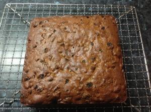 Boiled fruitcake for Murray's birthday