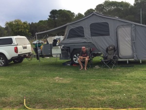 At Mudgee Showgrounds campsite.
