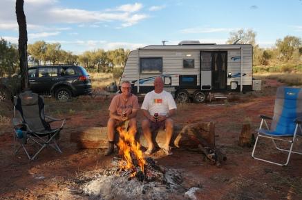 Murray and Ian at beer o'clock.