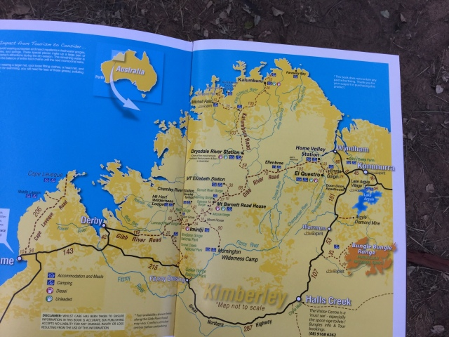 This map shows distances between each stop and the length of this road, 680kms.