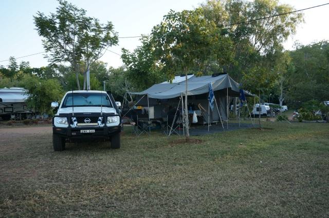 Camp at Lake Argyle.