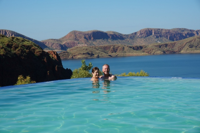 What a view from the infinity pool.