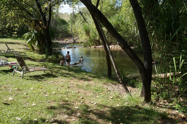 The swimming hole at El Q near the restaurant.