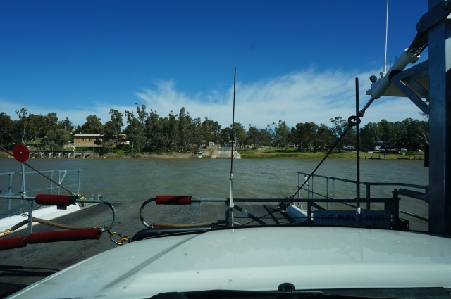 Crossing the Murray River.