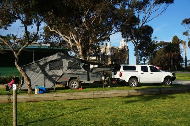Campsite at Adare CP, Victor Harbour.