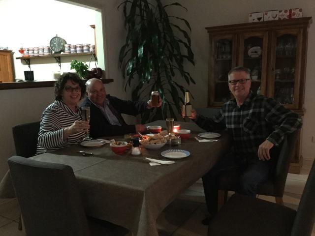 Robyn, Tim and Murray enjoying happy hour.